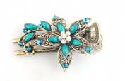 Philna12 Retro Crystal Rhinestone Flower Petal Hair Clip