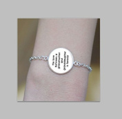 Word Jewellery,Grandmother Granddaughter Bracelet,Handcrafted,Silver Picture Jewellery Gifts for Women Bracelet ,Charm Bracelet,Print Photo Bracelet ,Best Gift,Christmas Gift
