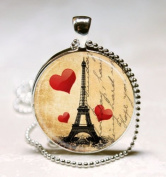 Eiffel Tower Necklace, Paris Love, France, French, Travel Jewellery, Vintage, Glass Dome Art Picture Pendant Photo Pendant Handcrafted Necklace