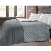 Paloma 100% Cotton Duvet Cover Set - Single - Grey