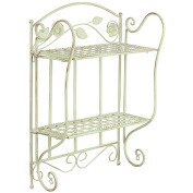 Hartleys 2 Tier Shabby Chic Floral Wall Shelf