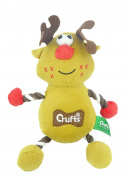 Crufts - Christmas Pet Toy With Squeaker - Reindeer - Dog Christmas Stocking Fillers
