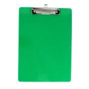 Unique Bargains Office School Plastic A4 Paper File Note Writing Holder Clamp Clip Board Green