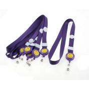 Unique Bargains Purple Lanyard Name Exhibition Business Badge ID Card Holder Neck Strap 6PCS