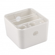 Unique Bargains Plastic Storage Craft Tool Stationery Pen Box Organiser Holder White