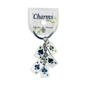 Hy-Ko Products Metal Charm Key Ring Silver/White