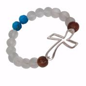 Faith & Prayer Bracelet-Open Cross Bead