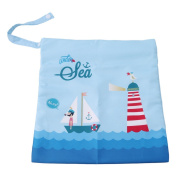 Albeey Wet Dry Cloth Nappy Bags - Baby Waterproof Washable Reusable Hanging Nappy Organiser
