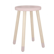 """FLEXA Side Table with Legs Made of Oak """" Play """" in Pink"""
