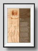 Rudyard Kipling Poem Print - If - Da Vinci Background - Art Photo Poster Gift - Size
