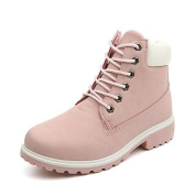 DD & Clothes Women's Boots Fall Winter Comfort PU Casual Low Heel Lace-up Black Pink Other , pink , us8 / eu39 / uk6 / cn39