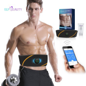 ElfBeauty Smart Abs Toning Belt, Electronic EMS Muscle Stimulation & Powerful 99 Intensity Level, Fat Burning/Muscle Training/Body Toning/Weight Loss, Bluetooth App Control, +Shaping Gel (NO REPLA