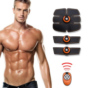 D & F Muscle Toner,EMS Muscle Stimulator, Abdominal Toning Belt, Gym Workout And Home Fitness Apparatus For Men Women