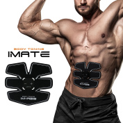 IMATE Toning Belt Abdominal Muscle Toner Trainer Abdominal Training Gear Body Waist Trimmer Toner Gym Home Workout Arm Strengthener Training Ab Belt, Unisex Smart Fitness ABS Fit Exercise Equipment Apparatus For Men and Girl