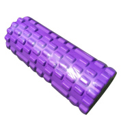 Forfar Yoga Foam Roller EVA Hollow Yoga Column Exercise Home Gym Sport Pilates Physiotherapy Massage Stick Home Gym Sports Exercise Fitness Muscle Relaxation Massage Stick