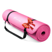 RitFit Extra Thick High Density NBR Comfort Foam Yoga Mat with Carrying Strap for Pilates, Fitness & Workout -183cmx 61cmx 1.2cm