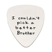 Brother Gifts for Men I couldn't Pick a Better Brother Pendant Guitar Pick Stainless Steel