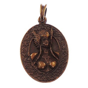 4.5cm metal brass look Viking Valkyrie Norse mythology pendant amulet gift in gift bag