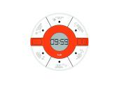 Aubecq 500294 Baking Timer 7.5 x 7.5 x 2 cm Plastic White