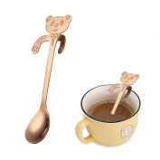 UPXIANG Stainless Steel Coffee Spoon Mini Lovely Bear, Tea Soup Sugar Dessert Appetiser Seasoning Bistro Spoon, Hanging Cup Spoon Kitchen Gadget
