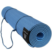 "Goture Non Slip SGS Certified TPE Yoga Mat With Carry Strap - High Density Thick 1/4"" Durable Mat 72""24"" Eco Friendly Non Toxic Pilates Mat"