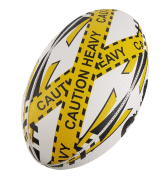 Rugby Ball - Ram Rugby Pass Developer - Weighted Training Ball - Improve Strength & Distance - 3D Grip For Ultimate Passing & Catching Control - Hand-Stitched - Ultima Grade Synthetic Rubber - Available in Sizes 5 (1kg), 4 (800g), 3
