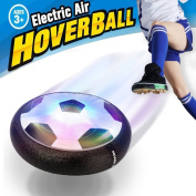 Hover Ball Air Power Soccer Disc – VIDEN Kids Sports Toys Pneumatic Suspended Floating Hockey Football, Foam Bumpers and LED Lights, Gliding Training Ball for Boys Girls Children Toys Christmas Gift