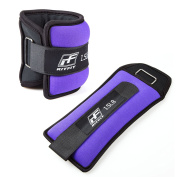 RitFit Ankle / Wrist Weights (1 Pair) with Fully Adjustable Strap for Arm, Hand & Leg - Best for Walking, Jogging, Gymnastics, Aerobics