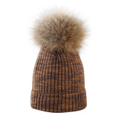 Cable Knit Beanie with Pom Pom by Keepwin Solid Stretch Warm Skull Cap Winter Hat for Women & Men