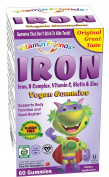 Vitamin Friends, IronBear Gummies, Grape, 15 mg, 60 Pectin Bears