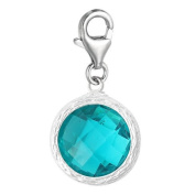 Clip on December Birthstone Charm Dangle Pendant for European Clip on Charm Jewellery w/ Lobster Clasp