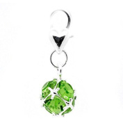 August Birthstone Dangle Charm Pendant for European Clip on Charm Jewellery w/ Lobster Clasp