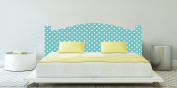PVC Headboard Finished in Digital Print White Spots 150x60cm   Double Headboard   Strong Weight light Smart and Economical   Great Quality Cheapest