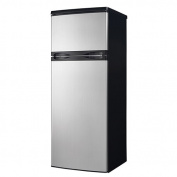 Danby 0.2cbm Black Top Mount Refrigerator with Stainless Steel Doors