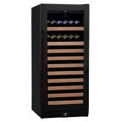 98-Bottle 1Temp Wine Fridge, Black