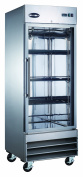 Heavy Duty Commercial Stainless Steel 60cm Glass Door Reach-In Refrigerator