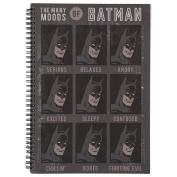 Batman Black Double Spiral Notebook A4