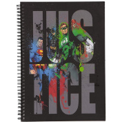 Justice League Black Double Spiral Notebook A4