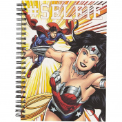 Wonder Woman Black Double Spiral Notebook A5