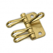 5 PCS Solid Brass Key Plate with 4 spring snap silver for purse handbag wallet