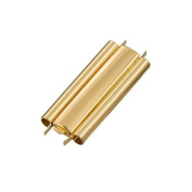 Seed Bead Slider Clasp Plain Gold Plated Beadslide 29mm