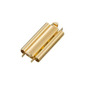 Beadslide Plain Gold Plated Seed Bead Slider Clasp 24mm