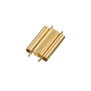 Beadslide Gold Plated Plain Seed Bead Slider Clasp 18mm