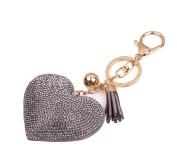 Da.Wa Fashion Leather Tassels Heart-shaped Pendant Keyring Keychain