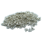 So Beauty 40pcs 5mm Silver Plated Spring Ring Round Clasps for Necklace & Bracelet DIY Making