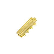 Gold Plated 4 Hole Clasp For Miyuki Delica Beads