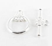 Flower toggle clasp – Silver – megacrea