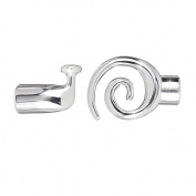 Large Silver Plated Kumihimo Swirl Toggle Clasp 6.2mm