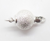 White Gold Filled 1 strand Shimmer Ball Clasp