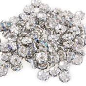 Skyllc® 100 X Silver Tone Metal 6mm Beads Spacers Caps Findings CHIC